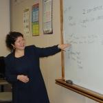 Olga teaches class