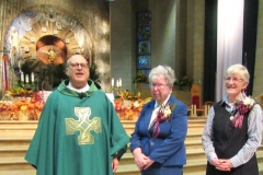 Father Amador Garza, Sisters Paulette Shaunfield and Mary Patricia Driscoll