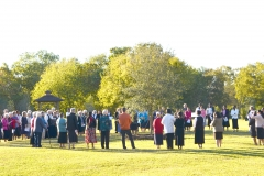 Sisters Gather to Bless the Sesquicentennial Tree